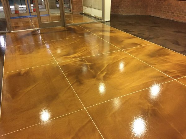 Cement Floor Epoxy Coating : Epoxy floors what you need to know boston concrete